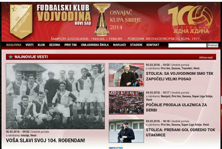 FK Vojvodina slavi 104. rođendan